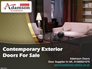 Contemporary Exterior Doors For Sale