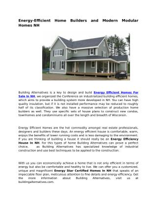 House Energy Efficiency NH
