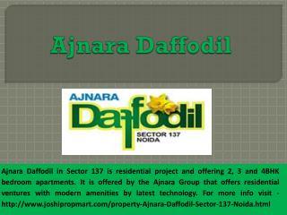 Luxury 2,3,4 BHK apartments in Ajnara Daffodil @9560187799