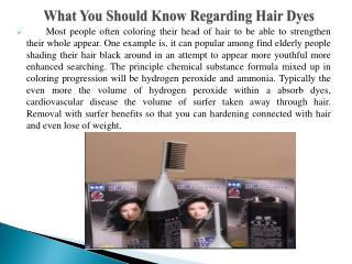 What You Should Know Regarding Hair Dyes