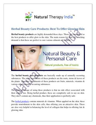 Herbal Beauty Care Products Manufacturers Suppliers in India