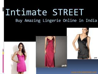 Buy Online Lingerie in India @ intimatestreet