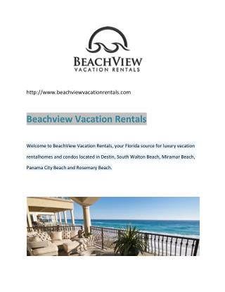 Destin Beachfront Rentals