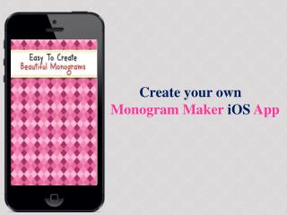 Monogram Maker iOS App Source Code