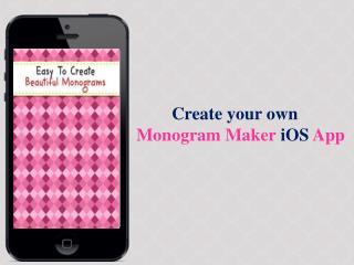 Monogram Maker iOS App Source Code