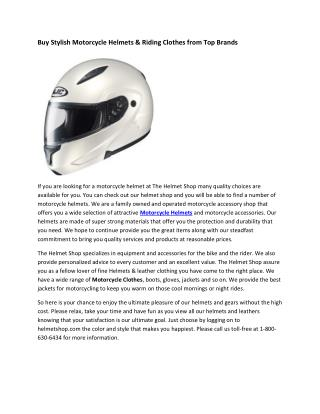 The Helmet Shop