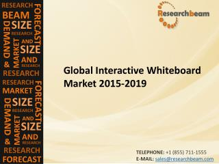 Global Interactive Whiteboard Market (Industry) 2015-2019 –  Challenge, Driver, Trends, Share, Growth, Share, Analysis