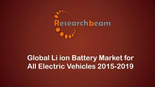 Li ion Battery Market for All Electric Vehicles 2015-2019