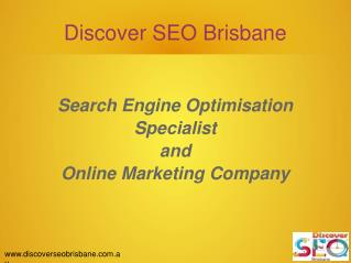 Search engine optimisation specialist and online marketing company