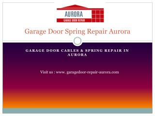 garage door spring repair aurora