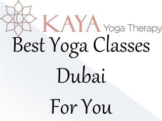 Best Yoga Classes Dubai  For You