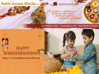 Beautiful Rakhi Deliverable to Lucknow at Rakhiacrossworld