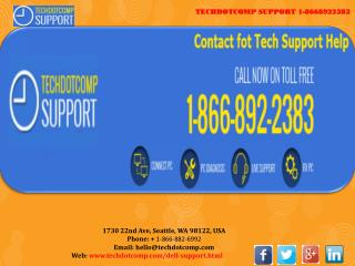 1-866-892-2383 Dell Support Number