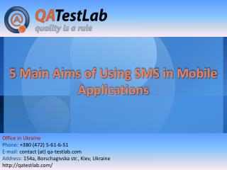 5 Main Aims of Using SMS in Mobile Applications