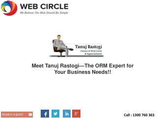 Meet Tanuj Rastogi—The ORM Expert for Your Business Needs!!