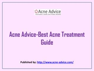 Acne Advice-Best Acne Treatment Guide