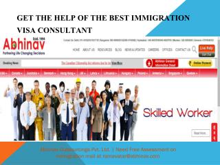 Get the help of the Best Immigration Visa Consultant