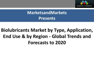 Biolubricants Market worth $2,972.13 Million by 2020