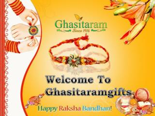 Online Rakhi Shopping India from Ghasitaramgifts.com