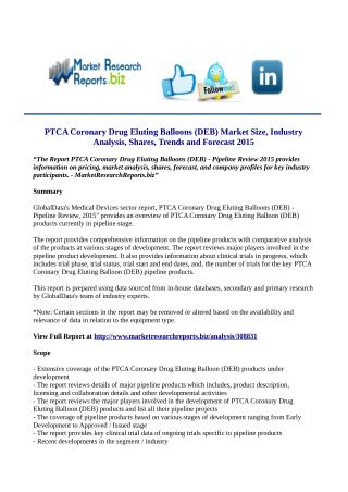 PTCA Coronary Drug Eluting Balloons (DEB) Market Analysis 2015