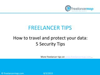 How to travel and protect your data: 5 security tips