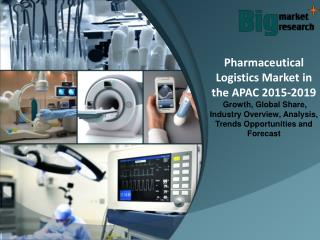 2019 Pharmaceutical Logistics Market in the APAC Market Size, Share Trends, Demand & Forecast