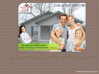 Finding the Right Cookeville Real Estate Agencies