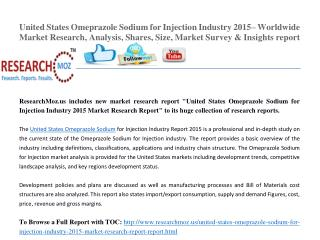 United States Omeprazole Sodium for Injection Industry 2015 Market Research Report