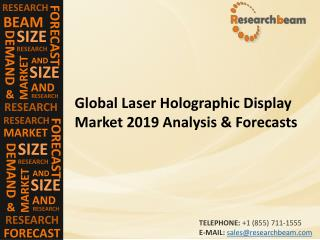 Global Laser Holographic Display Market 2019 Analysis & Forecasts