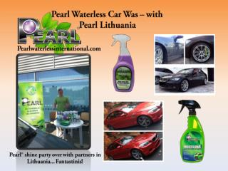 Pearl Waterless Car Wash–with Pearl Lithuania