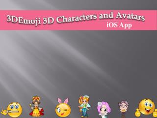 Emoji 3D Characters and Avatars iOS Application