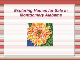 Exploring Homes for Sale in Montgomery Alabama