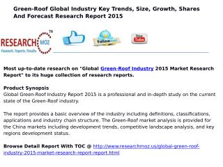 Global Green-Roof Industry 2015 Market Research Report