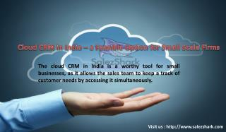 Cloud CRM | customer relationship management in India