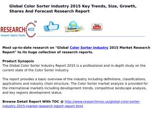 New Release | Global Color Sorter Industry 2015 Market Research Report