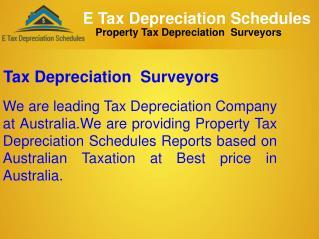 Tax Depreciation Surveyors