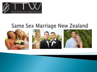 Same Sex Marriage New Zealand