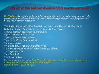 40% off  on Two Bedroom Apartment Pack to move your House