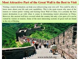 Most Attractive Part of the Great Wall is the Best to Visit
