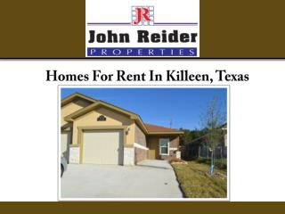 Homes For Rent In Killeen, Texas