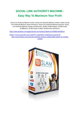 Social Link Authority Machine Review-(FREE) $32,000 Bonus & Discount