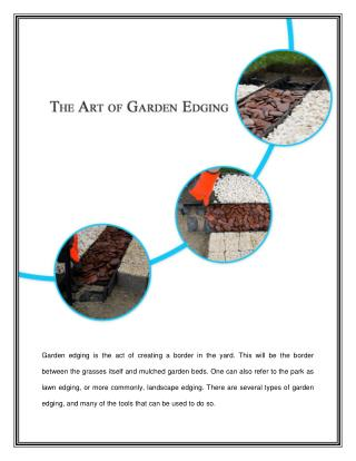 The Art  of Garden Edging