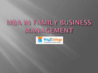 MBA in Family Business Management