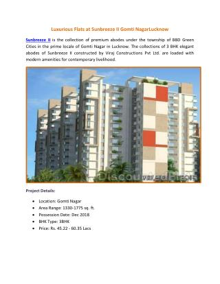 Luxurious Homes at Sunbreeze II Gomti Nagar Lucknow