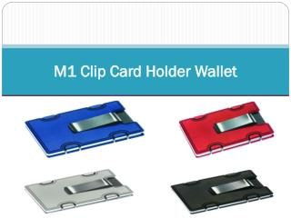 M1 Clip Card Holder Wallet