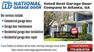 Voted Best Garage Door Repair Company in Atlanta, GA