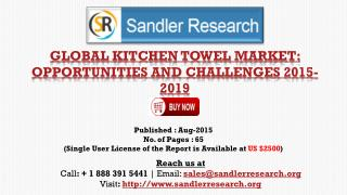 World Kitchen Towel Market to Grow at 6% CAGR to 2019 Says a New Research Report