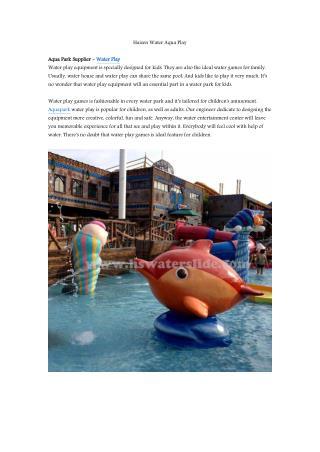Aquapark water play