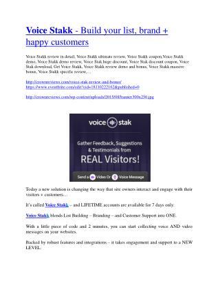 voice stakk review-$26,800 bonus & discount