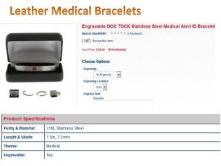 Leather Medical Bracelets- usjewelsandgems.com